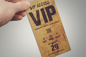Stylish VIP PASS card