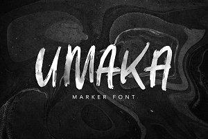 Umaka - Marker Font