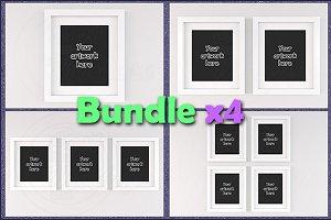 "Mockup white frames 8x10"" BUNDLEx4"