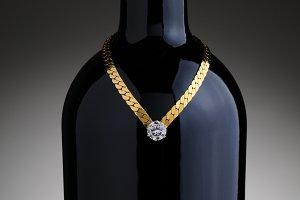 Bracelet on Wine Bottle