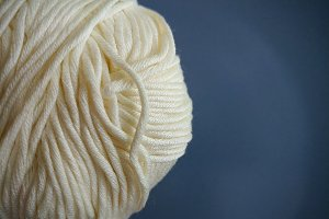 White yarn ball