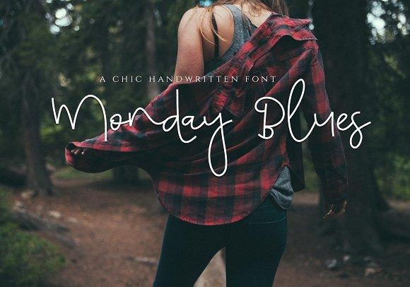 Monday Blues Chic Handwritten Font