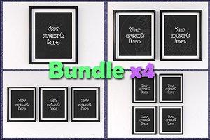 """Mockup matted frames 8x10"""" BUNDLEx4"""