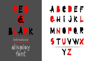 Red-and- Black font
