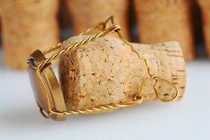 Closeup Champagne Cork