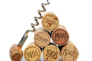 Corks with Vintage Date & Corkscrew