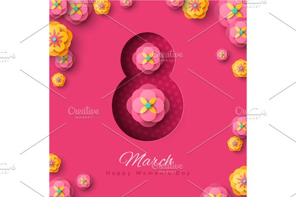 March 8 With Flowers
