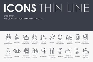 Emigration thinline icons