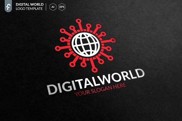 Digital World Logo in Logo Templates