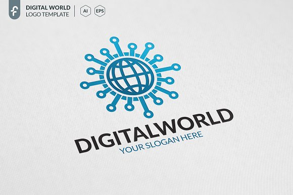 Digital World Logo in Logo Templates - product preview 1