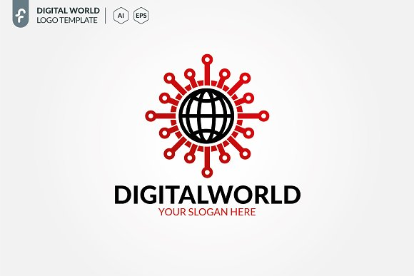 Digital World Logo in Logo Templates - product preview 2