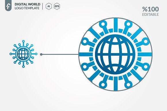 Digital World Logo in Logo Templates - product preview 3