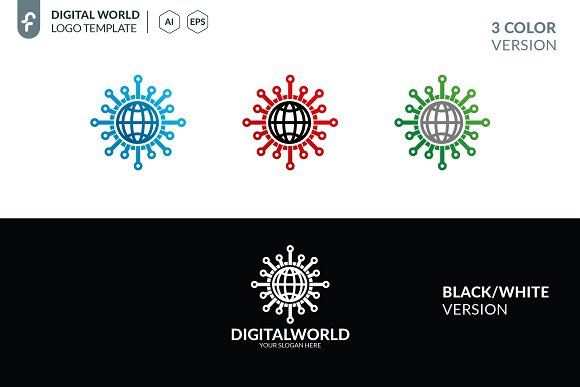 Digital World Logo in Logo Templates - product preview 4