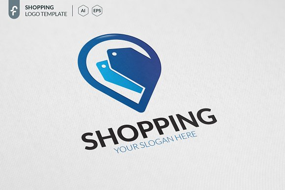 Shopping Location Logo in Logo Templates - product preview 1