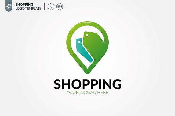 Shopping Location Logo in Logo Templates - product preview 2