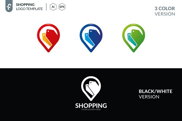 Shopping Location Logo in Logo Templates - product preview 4