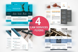 Law Firm and Legal Services Flyers