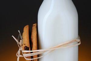 Cookies Tied to Milk Bottle