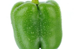 Green Bell Pepper with Reflection