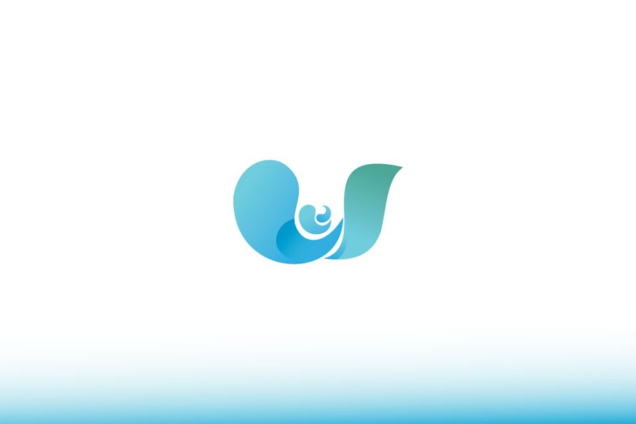 Water Wave Logo in Logo Templates - product preview 8