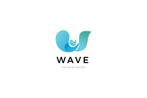 Water Wave Logo in Logo Templates - product preview 1