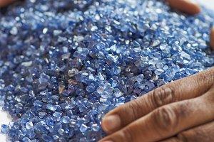 Natural mineral gem stones sapphires