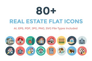 80+ Real Estate Flat Icons