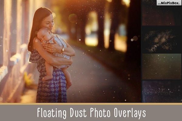 75 Floating Dust Photo Overlays