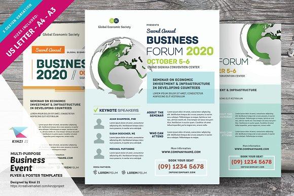 multi purpose business event flyers flyer templates creative market