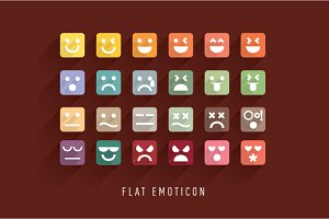 Flat Emoticon