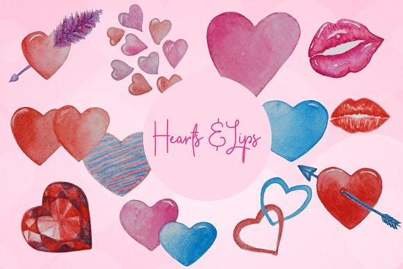 Hearts Lips