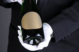 Sommelier Presenting Champagne