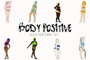 Body positive illustrations