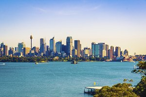 The city skyline of Sydney,Australia