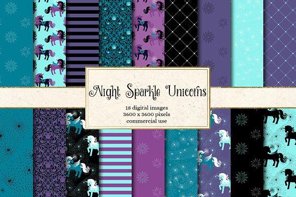 Night Sparkle Unicorn Patterns