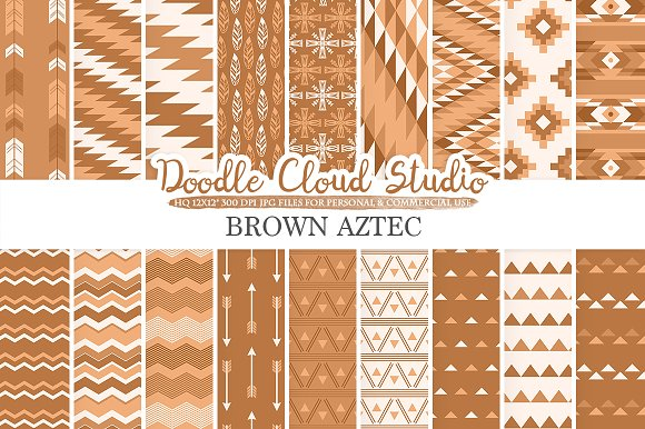 Brown Aztec Digital Paper