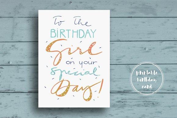 Funny Birthday Card Card Templates Creative Market