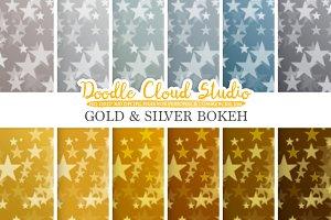 Gold & Silver Stars Bokeh
