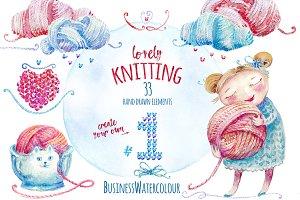 Lovely Knitting Clipart #1