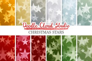 Christmas Stars Bokeh digital paper