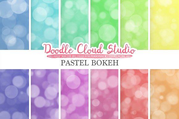 Pastel Bokeh Digital Paper