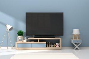 Mock up TV room