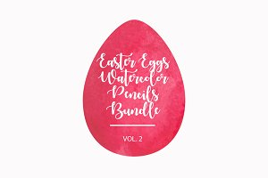 Easter Eggs Watercolor Bundle vol.2