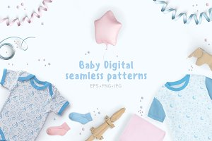 Baby Digital 8 seamless patterns!