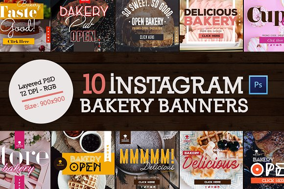 10 Instagram Bakery Banners