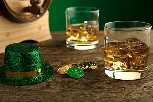 St. Patrick's Day Whiskey - Close Up