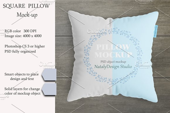 Square Pillow Mockup Product Mockup