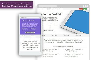 Landing page responsive Bootstrap 3