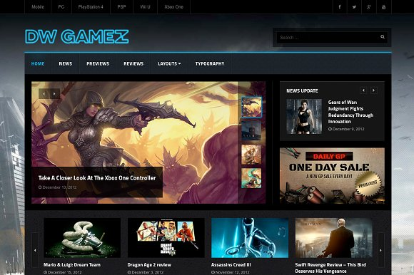 DW Gamez - Game Magazine WP Themes