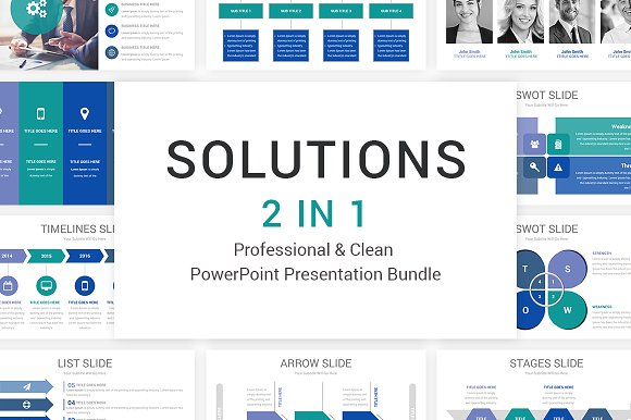 2 In 1 - Solutions PowerPoint Bundle